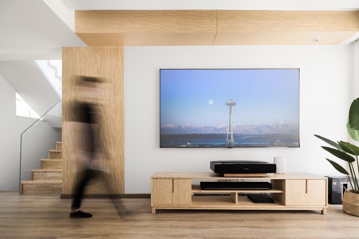 初一 | 超大露台+独立舞蹈室,最舒适的原木风别墅