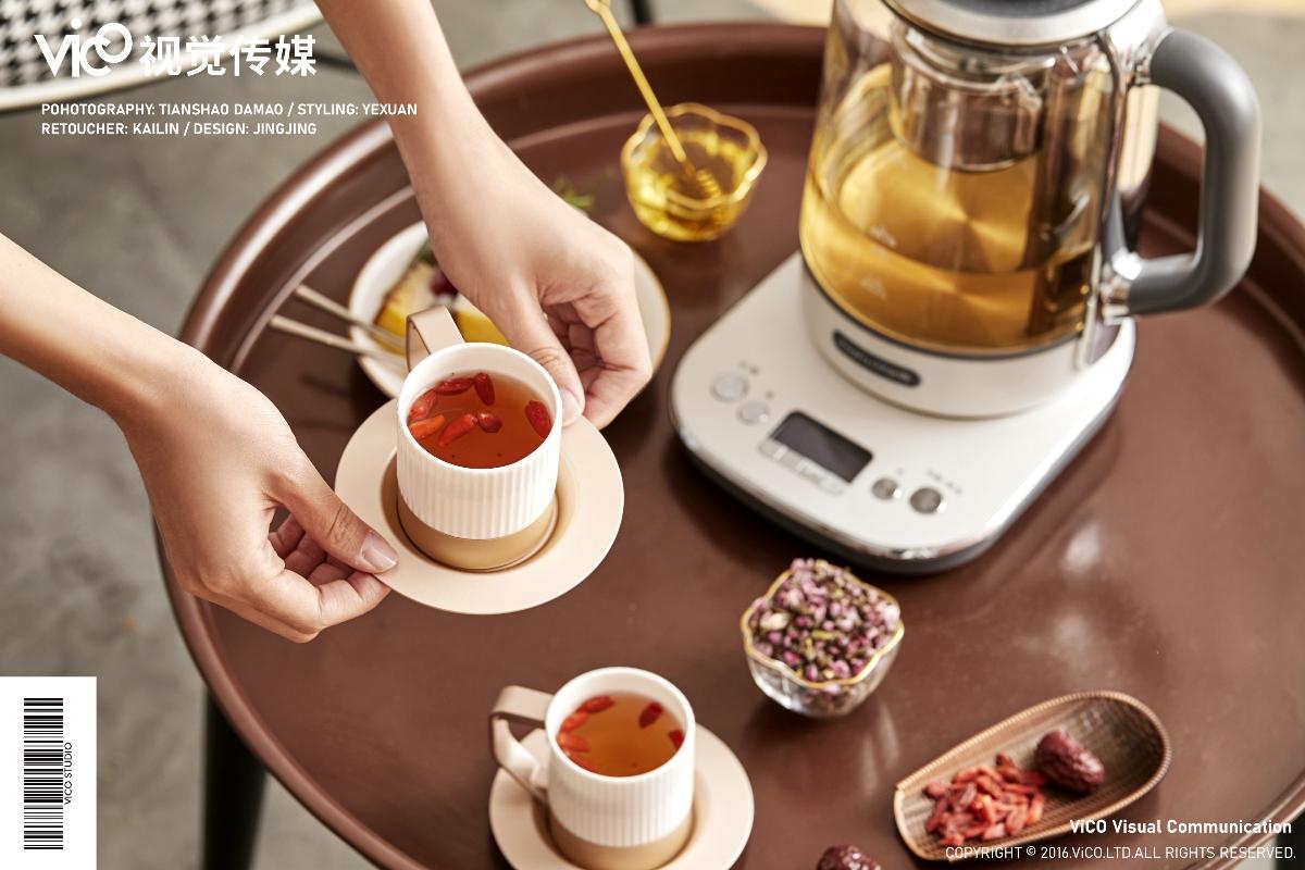 英国摩飞 煮茶器 电商摄影