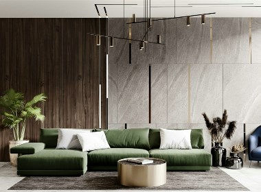 木质的温馨搭配金属材质,演绎质感的现代优雅