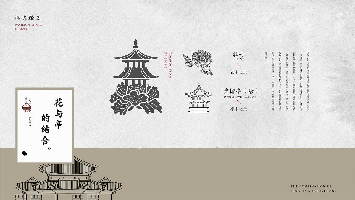 霓裳片片束素亭亭-亭外花店VI設計