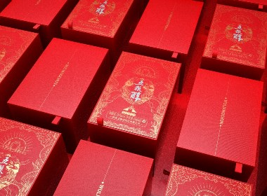 五粮醇茶酒礼盒包装设计