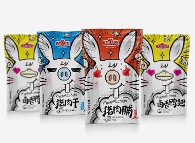 玉兔丨熟食类零食包装设计