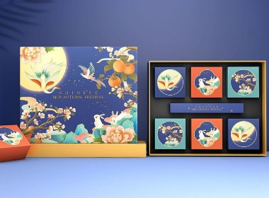 国潮月饼礼盒包装设计