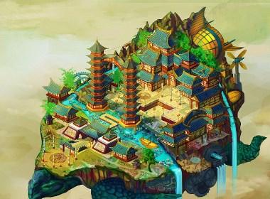 《天空之城》海报设计/商业插画/包装设计/品牌设计/电商设计