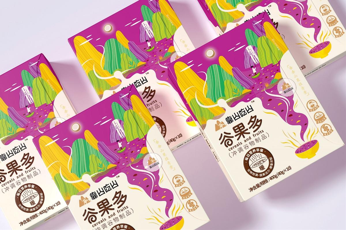 包装界的新中式—扬子江•靠山吃山营养代餐品牌包装设计|厚启设计
