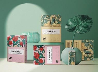 姜茶花茶系列包裝