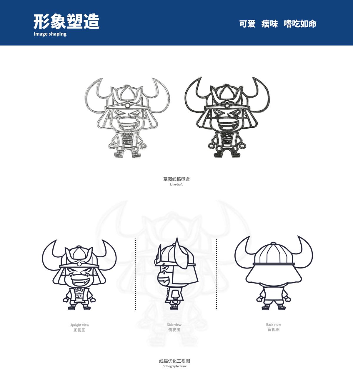 嗨皮牛·餐饮IP形象设计