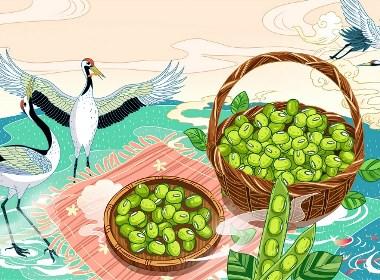 中國風糧食插畫