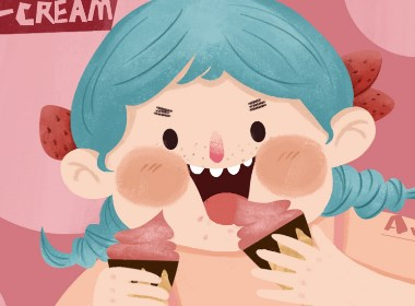 冰淇淋包装插画