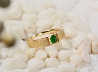 小而美|正阳绿翡翠戒指