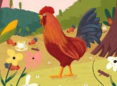 --山鸡插画案例--