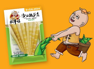 火麒麟作品 丨包装设计-竹笋-笋尖-放牛娃食品