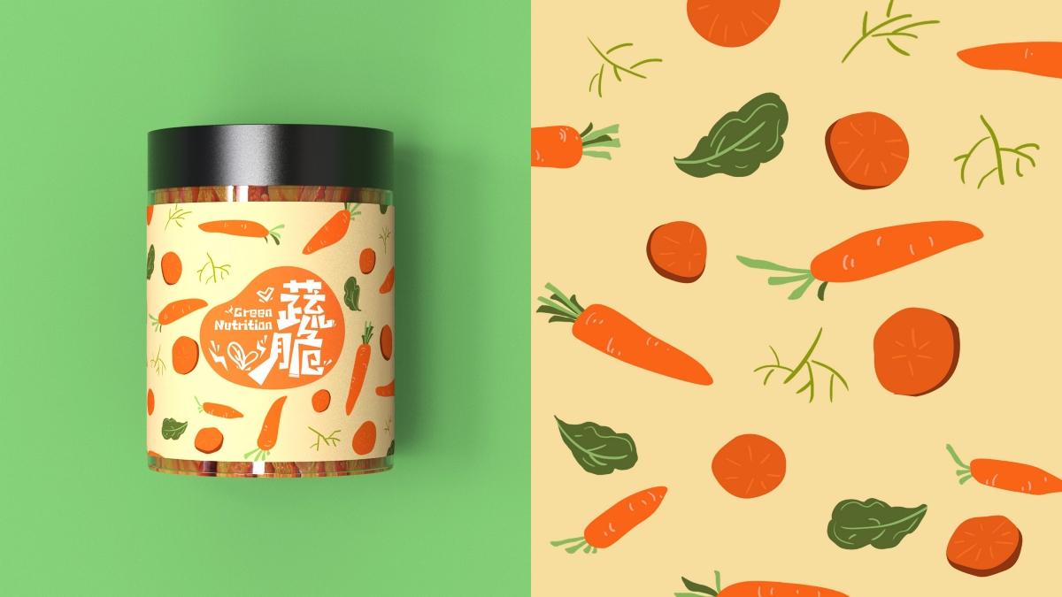 蔬脆 × 巫七也也 × FORMER1988 | 蔬菜脆包装设计【原创】