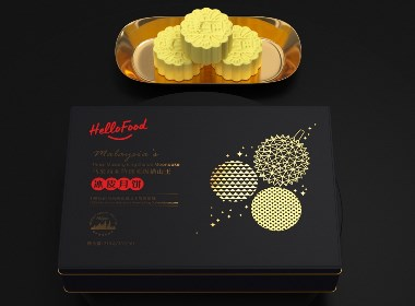 马来西亚特选 顶级猫山王冰皮月饼 · Hellofood 包装设计©刘益铭 原创作品