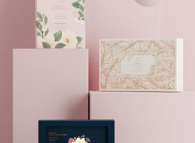 粉色系植物品牌包装设计