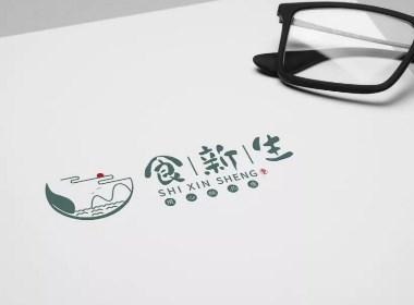 天得利项目案例|食新生品牌logo视觉设计