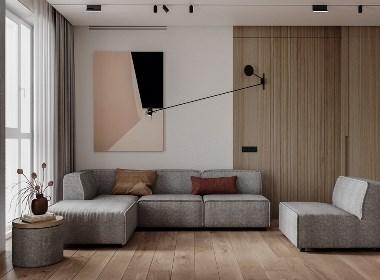 现代极简+北欧元素,打造质感舒适的生活居所