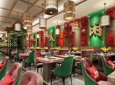深圳广式点心茶楼悦得闲餐厅店面设计空间设计全案设计-品深餐饮设计