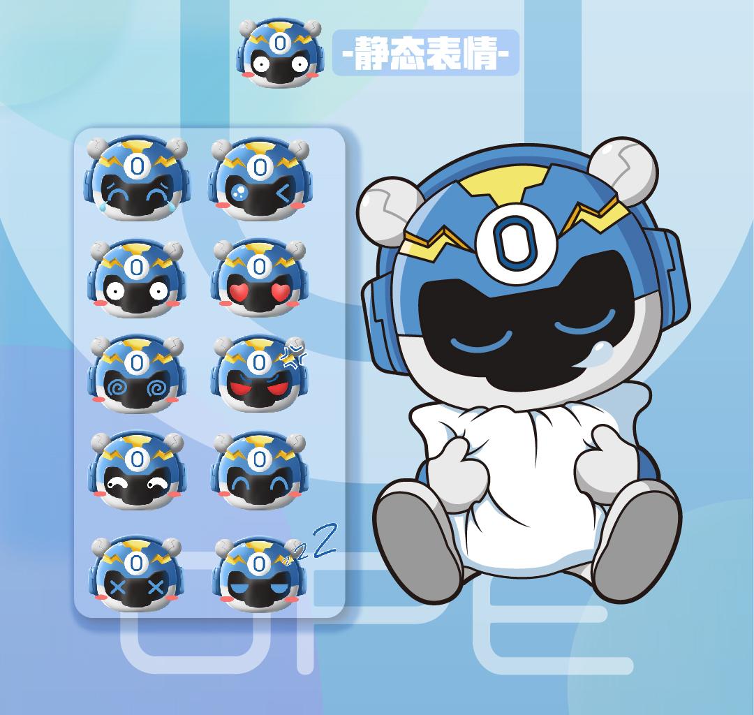 OPE吉祥物 电竞熊IP形象设计