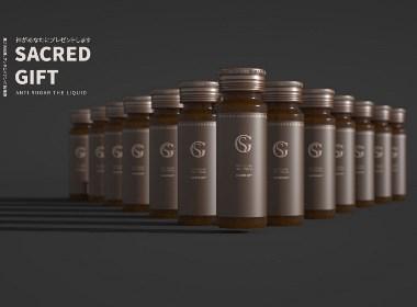 美白口服液小白瓶包装设计/护肤美容产品包装/保健品日用品设计