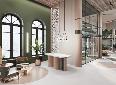 绿色调办公室,自然清新舒享生活--欧模设计圈