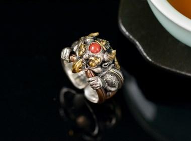东巴文化|都盘修曲系列戒指