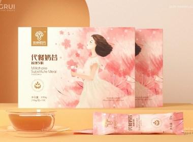 代餐奶昔固体饮料包装设计 ©刘益铭 原创作品