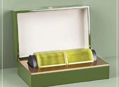 高档实木盒钢琴烤漆木盒陶瓷茶叶罐双罐木盒设计