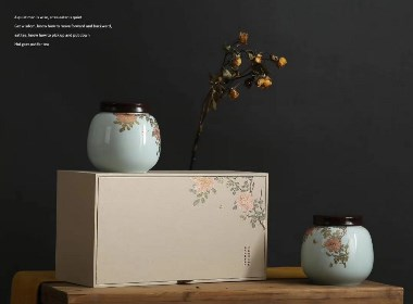 富贵吉祥陶瓷罐茶叶罐礼盒包装盒设计