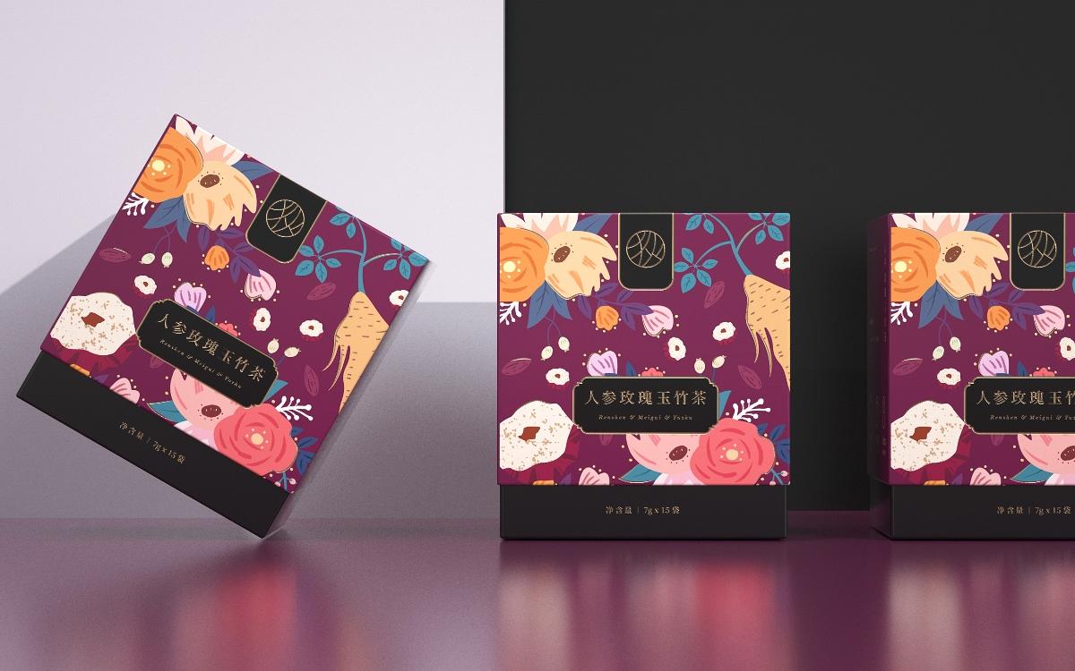 《哈狄-花茶》花茶包装 茶叶包装 三角包茶叶