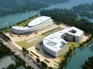 展览馆建筑外观设计案例效果图