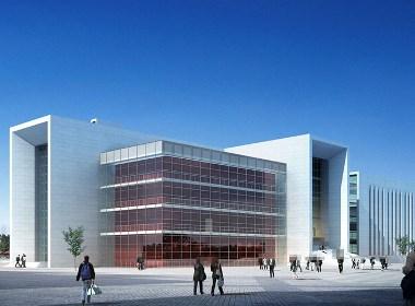 科技馆建筑外观设计案例效果图