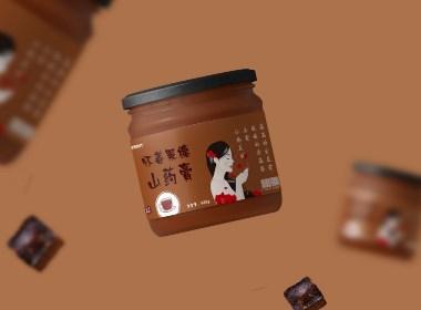 女性滋补膏类标签设计