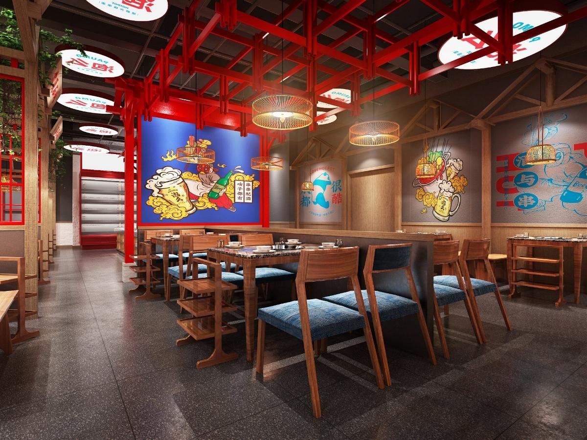 餐饮品牌空间设计  「原创」  泡么火锅串串