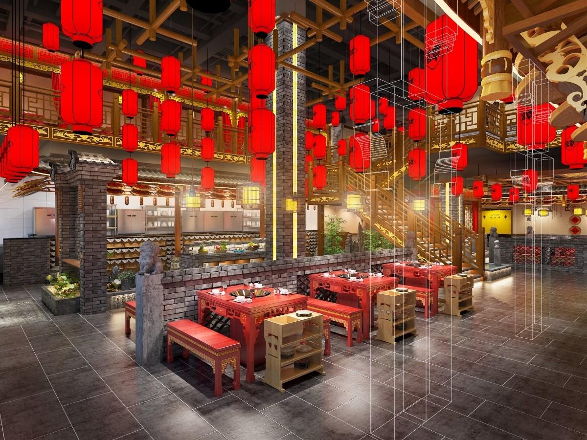 餐饮品牌空间设计 「品牌升级」谭鸭血火锅