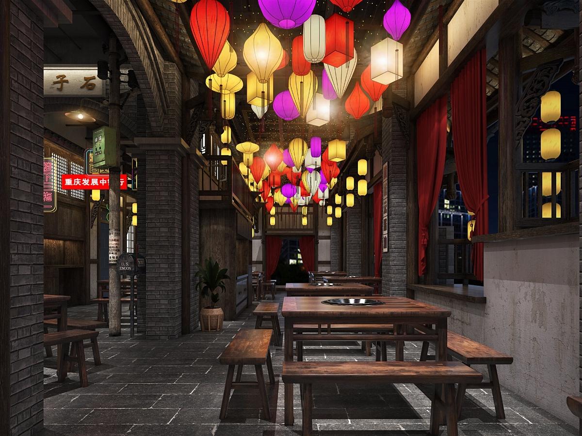 餐饮品牌空间设计 「品牌升级」  卤校长火锅