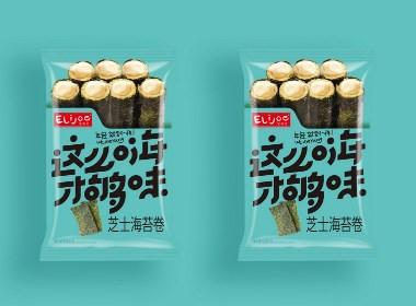 海苔卷休闲食品原创包装设计