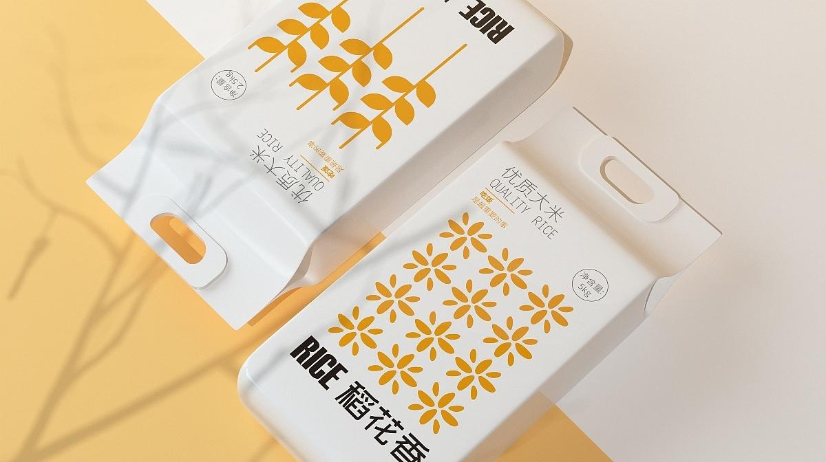 大米品牌系列插画包装设计