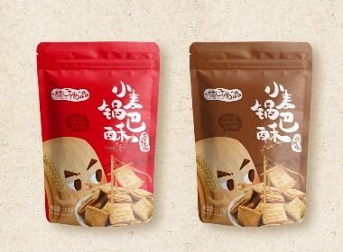 小麥鍋巴酥包裝設計