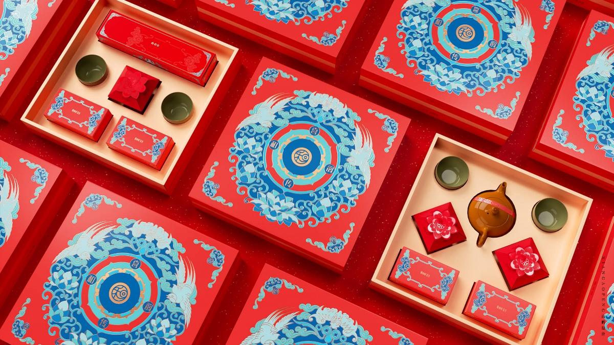 高鹏设计——食品婚庆礼盒包装设计