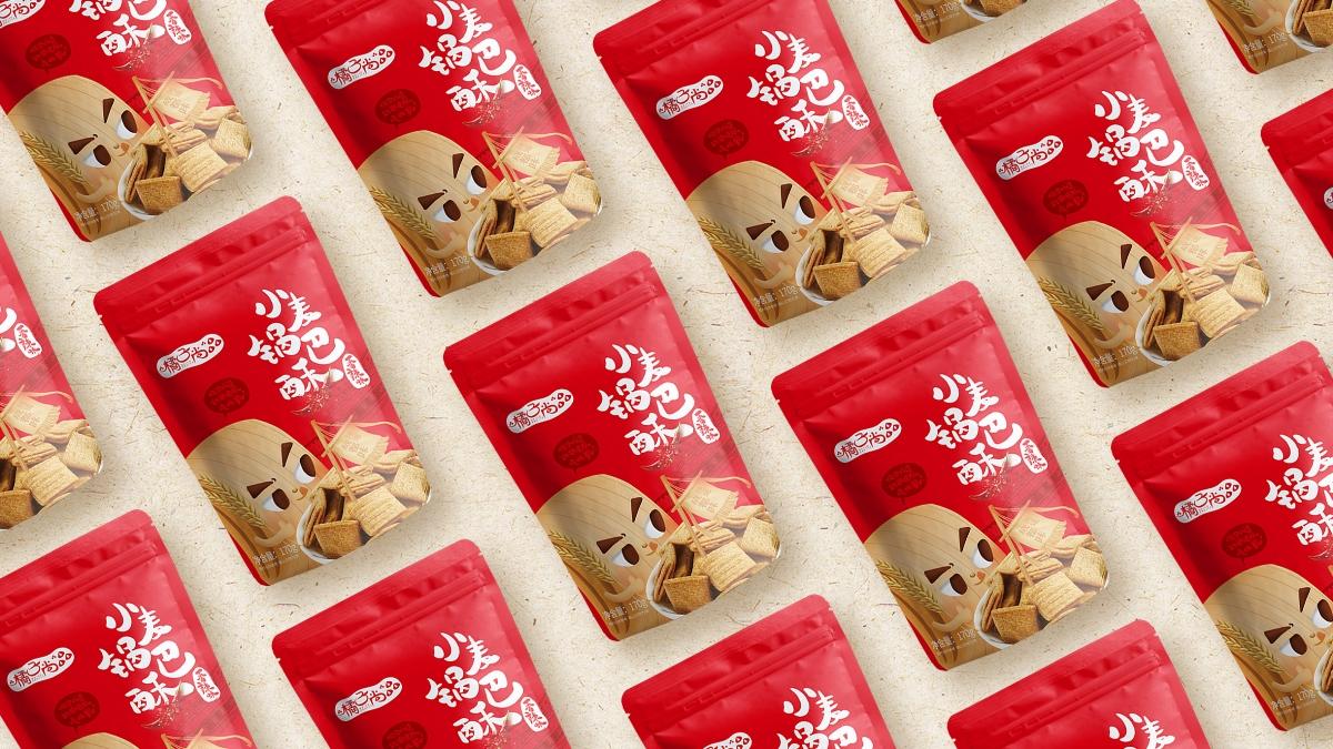 小麦锅巴酥包装设计