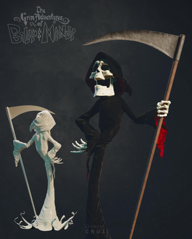 比利和曼迪死神大冒险同人CG模型