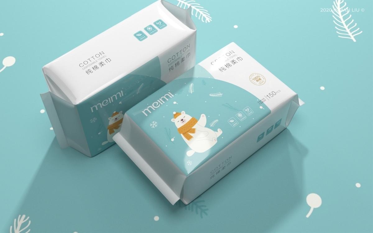 抽纸包装设计 纸巾包装设计©刘益铭 原创作品