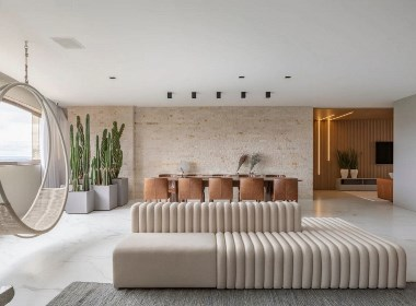 283㎡ 三室两厅,用木材和石材打造简约自然之所--欧模设计圈