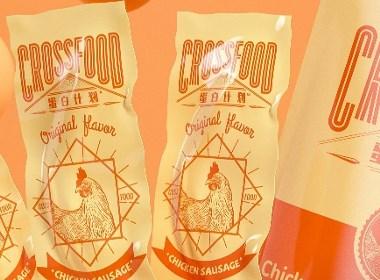 雞肉腸食品系列插畫包裝設計