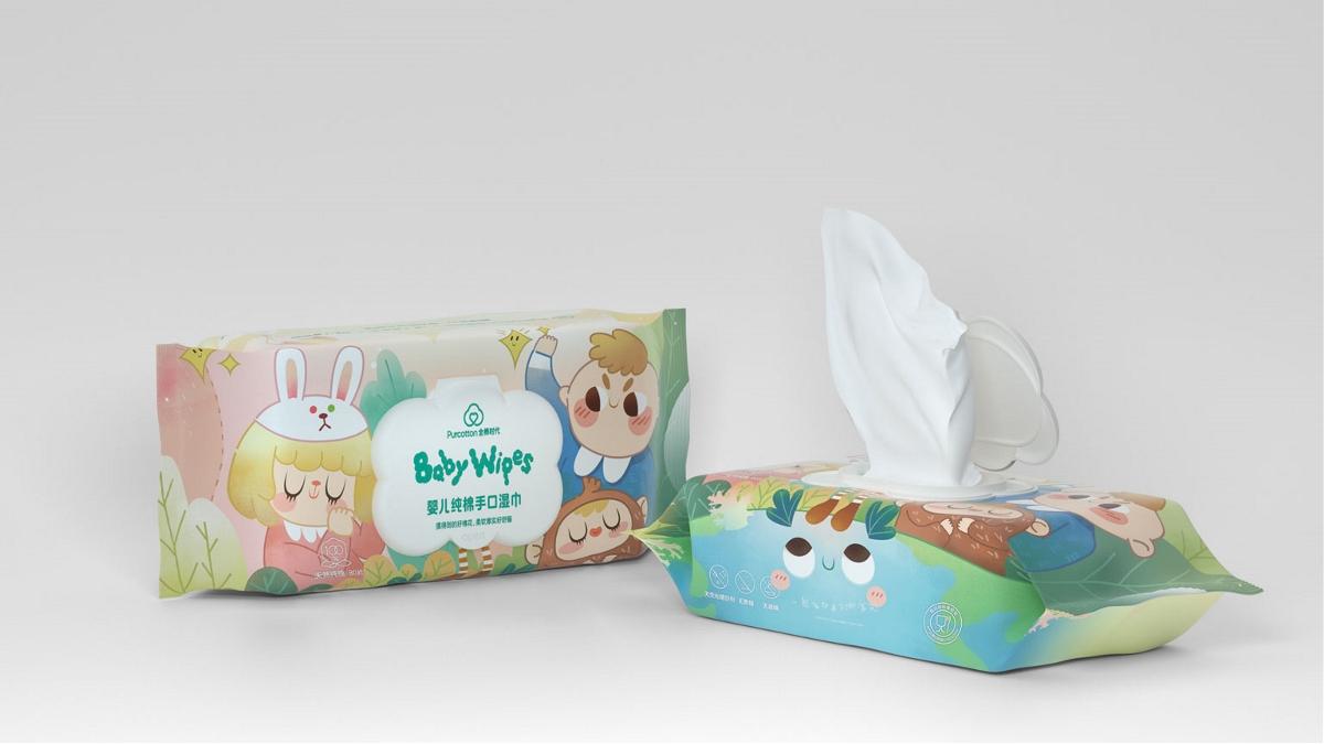 全棉时代 x 3721设计 | 儿童款手口湿巾包装设计