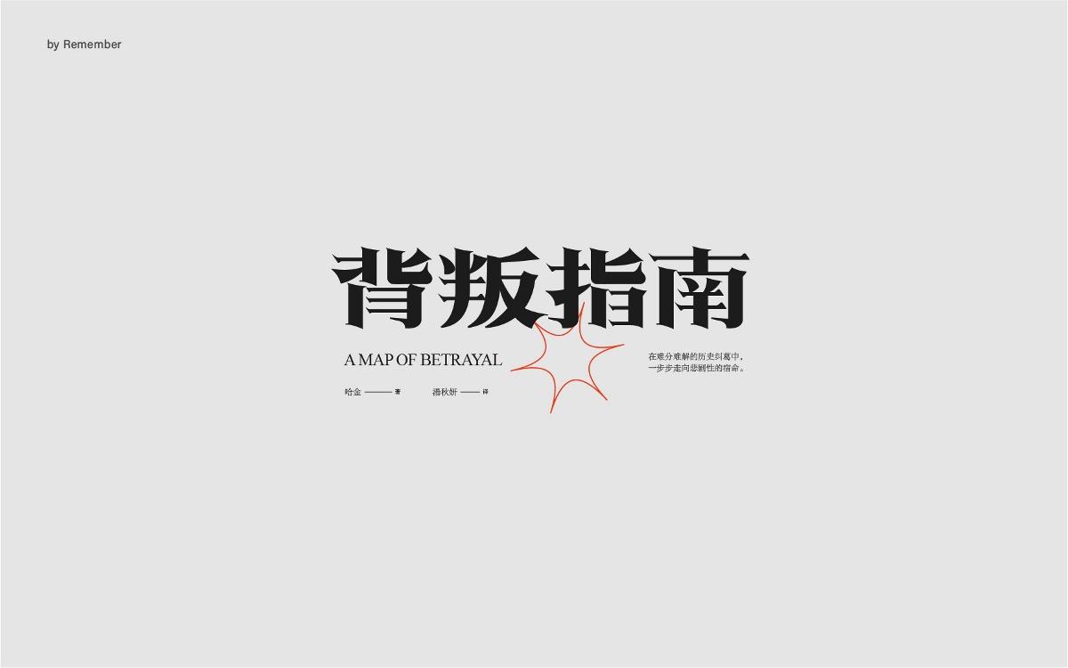 字體設計xRemember丨小說名設計