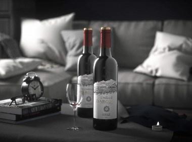 贺梅拉红酒包装设计