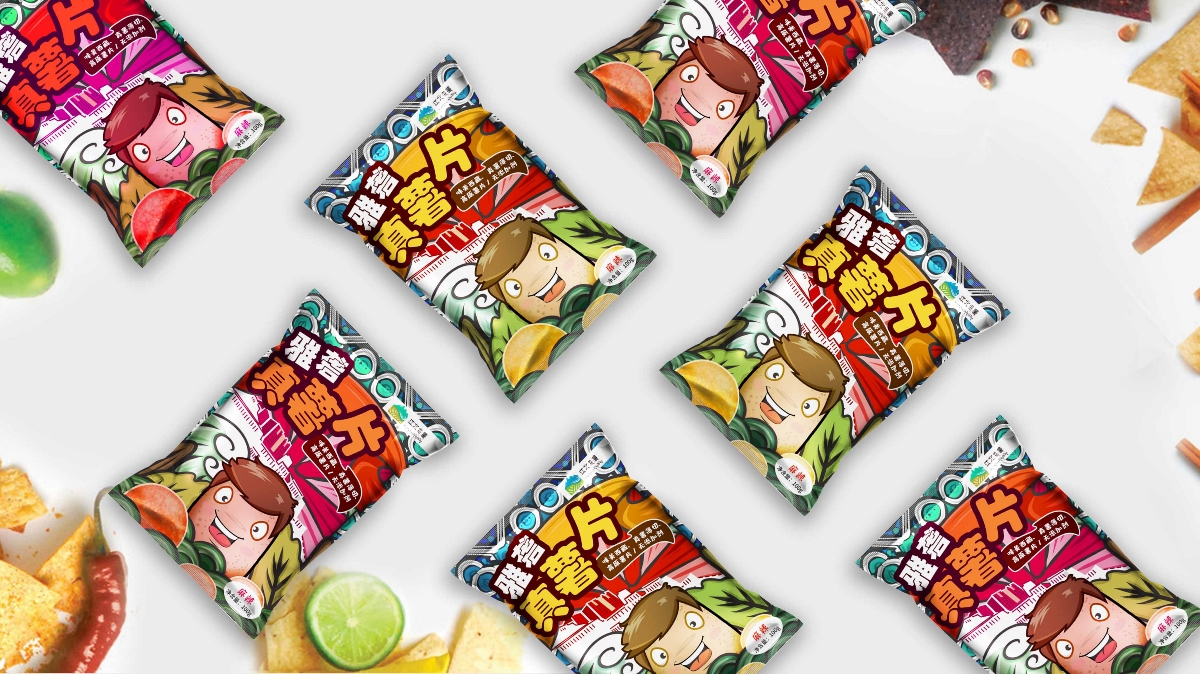 西藏雅砻薯片包装设计