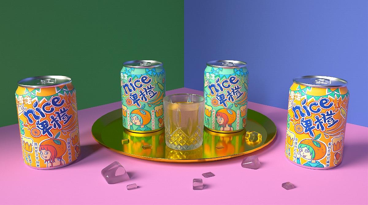 雪花啤酒/NICE橙果啤包装设计